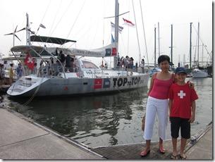 Adel & Shanon at the boat